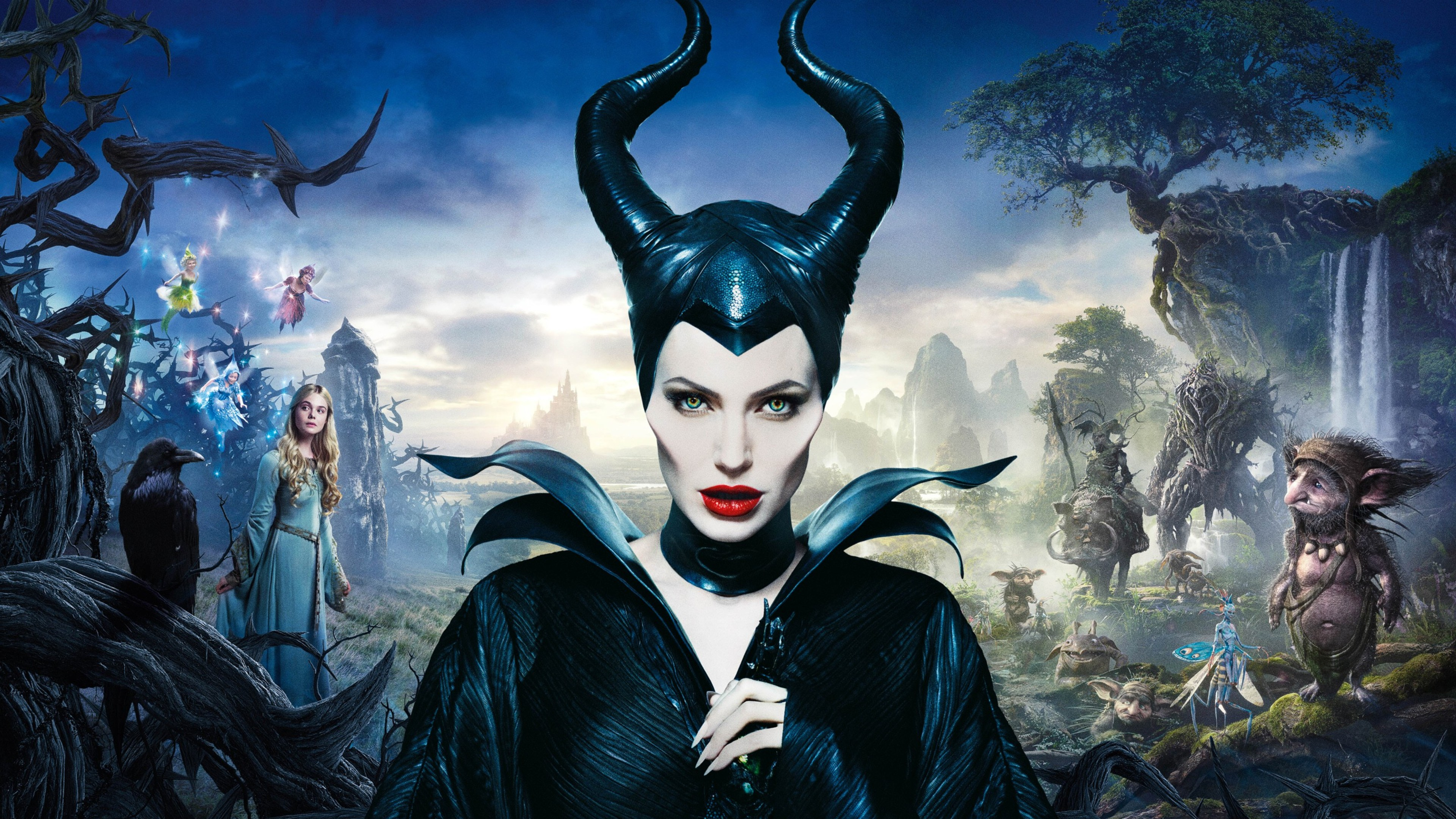Maleficent Movie 2014 Hd Ipad Iphone Wallpapers: Angelina Jolie… Now, With Wings!