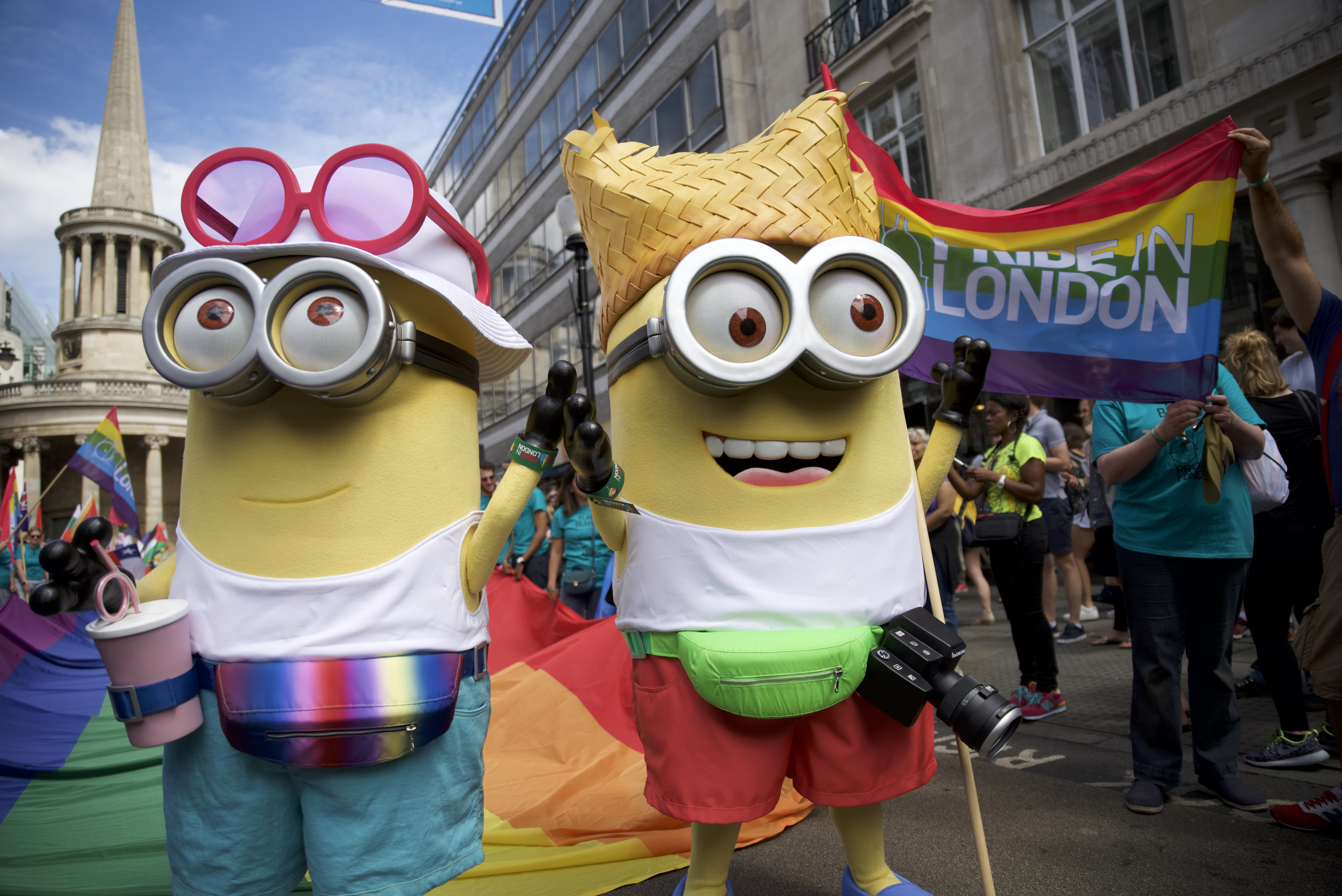 Minions at London's Gay Pride celebrations